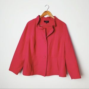 talbots | plus size wool fuchsia blazer